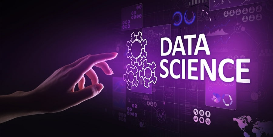 Big Data science analysis business technology concept on virtual screen